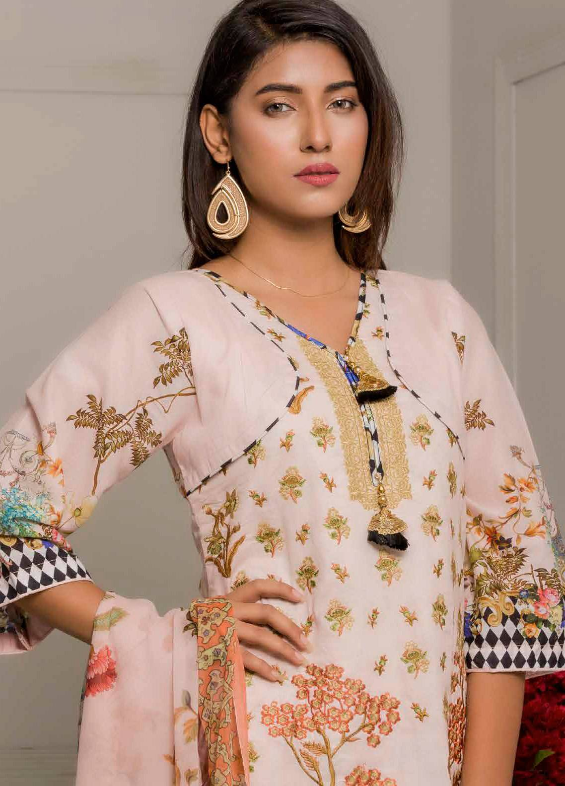 Salina by Regalia Textiles Embroidered Lawn Unstitched 3 Piece Suit SRG19F 05 - Festive Collection