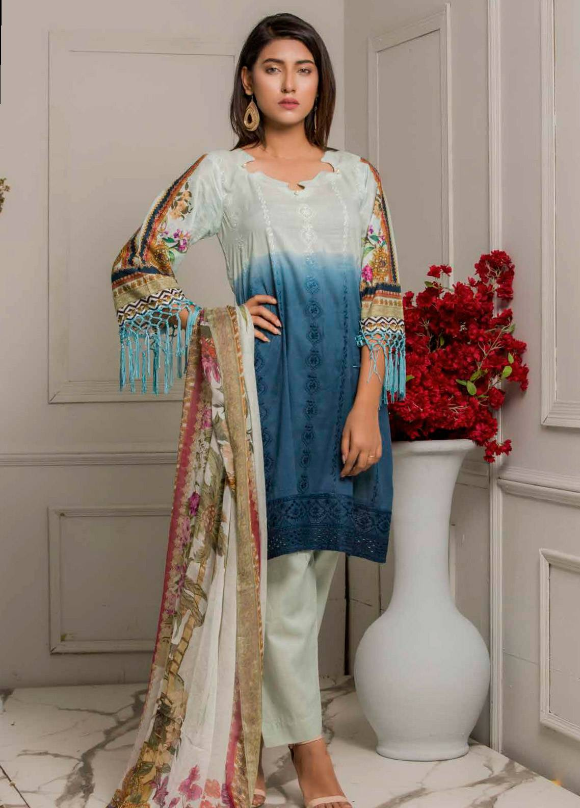 Salina by Regalia Textiles Embroidered Lawn Unstitched 3 Piece Suit SRG19F 06 - Festive Collection