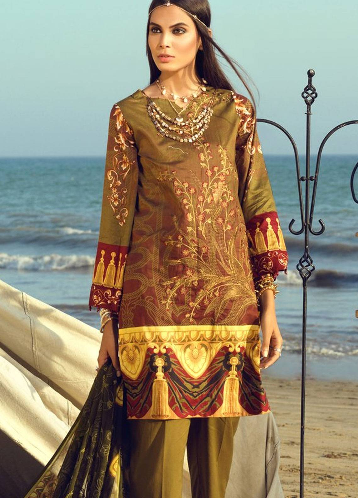 Salitex Embroidered Lawn Unstitched 3 Piece Suit STF19L 289 - Spring / Summer Collection