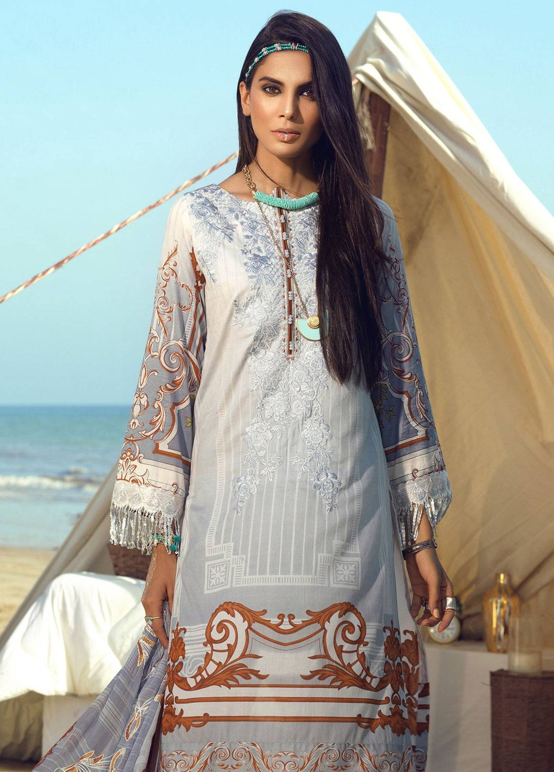 72a400c5db Salitex Embroidered Lawn Unstitched 3 Piece Suit STF19L 292 - Spring / Summer  Collection