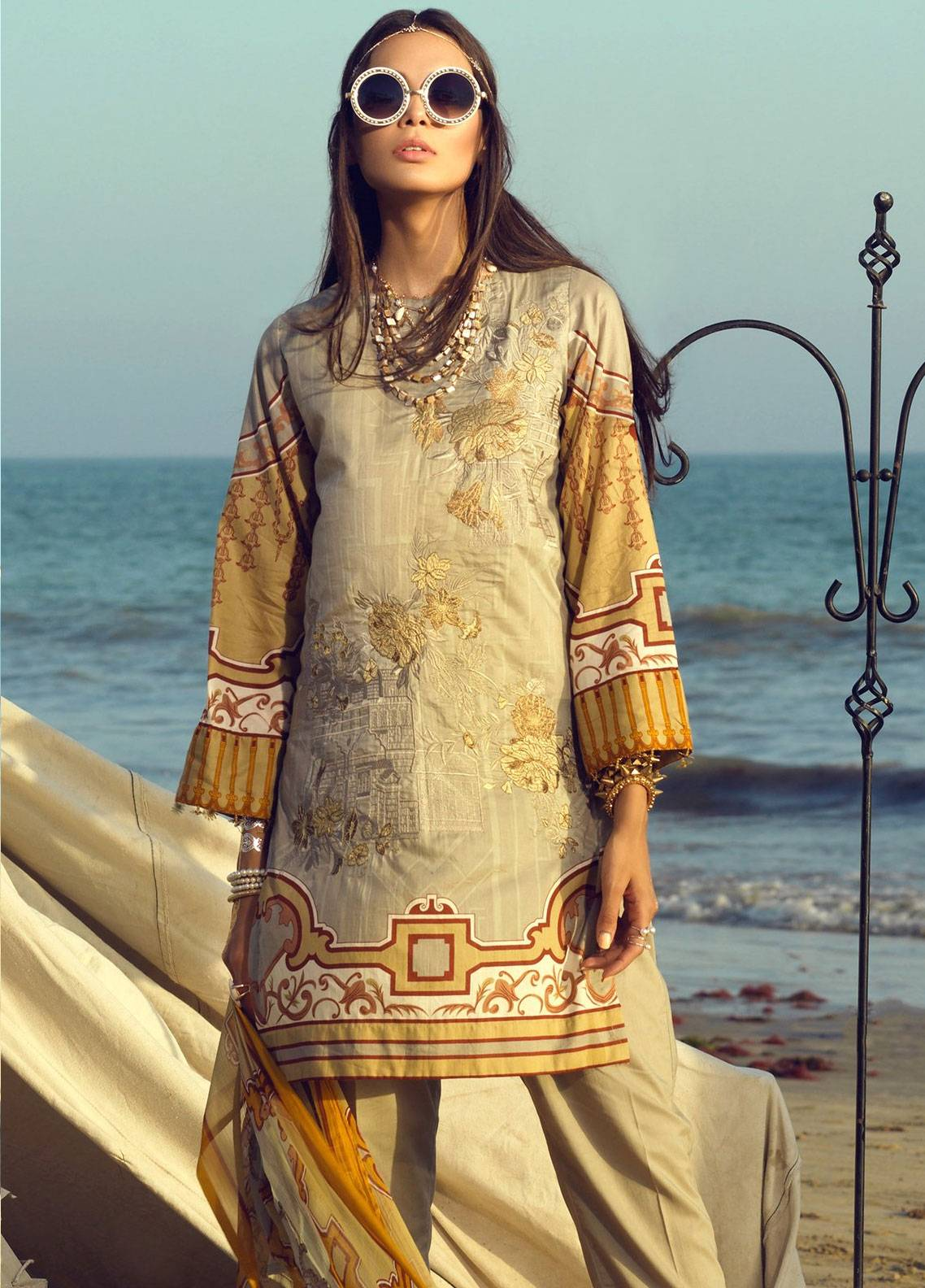 67241e0977 Salitex Embroidered Lawn Unstitched 3 Piece Suit STF19L 295 - Spring / Summer  Collection