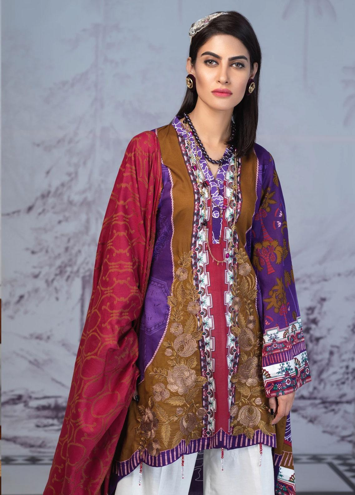 Salitex Embroidered Lawn Unstitched 3 Piece Suit ST19PL 309B - Mid Summer Collection