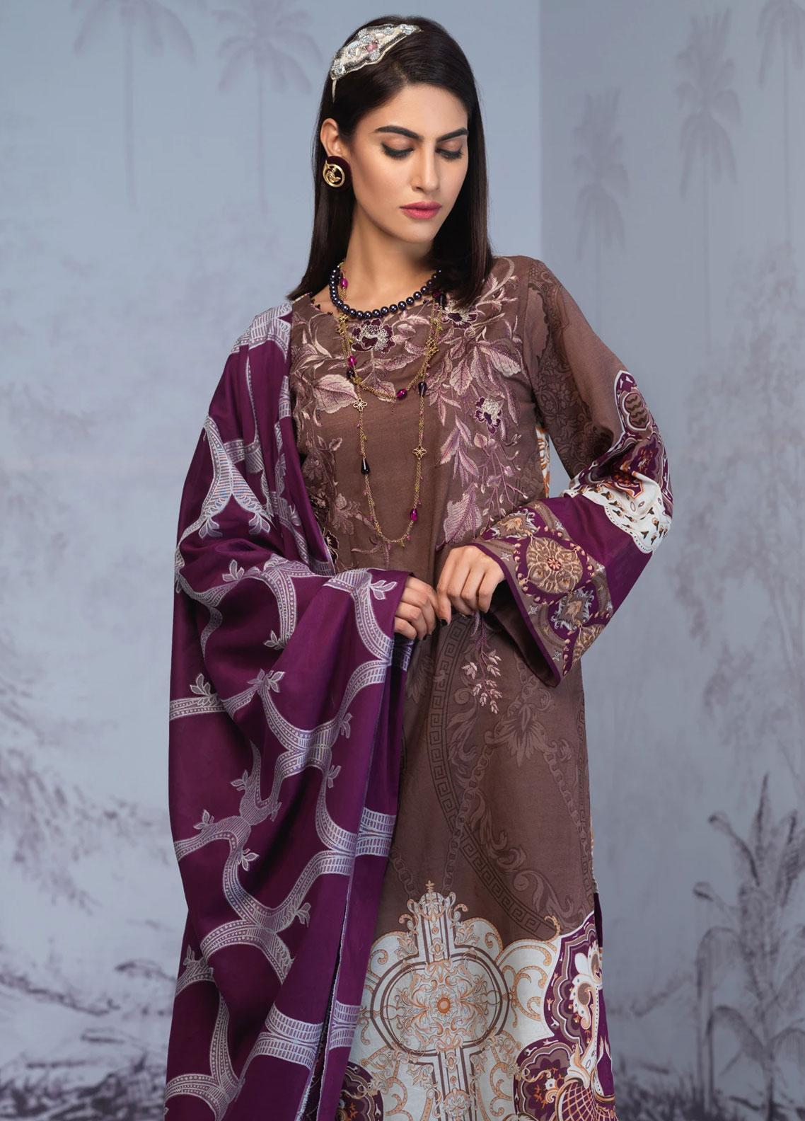 Salitex Embroidered Lawn Unstitched 3 Piece Suit ST19PL 310B - Mid Summer Collection