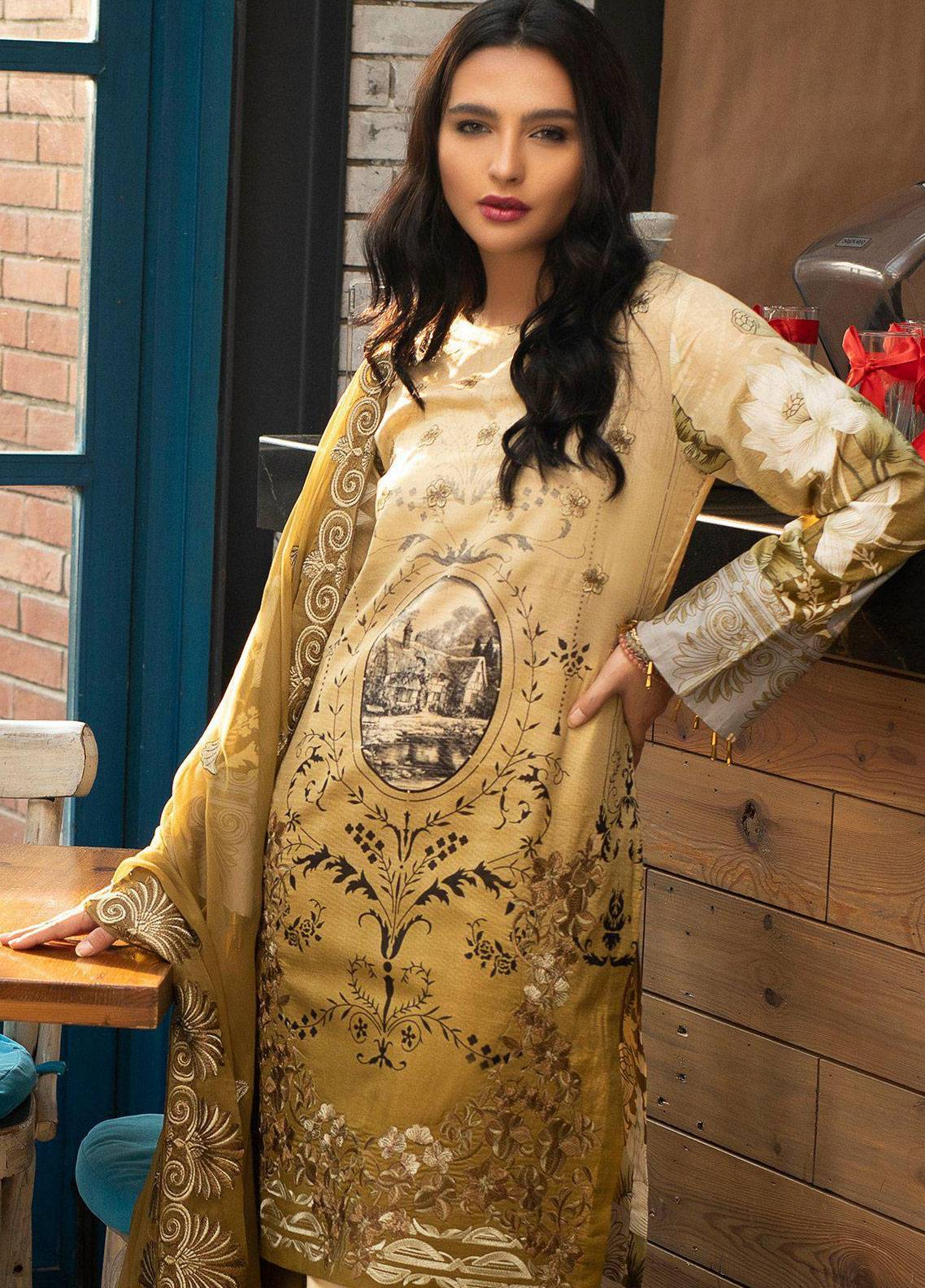 Salitex Embroidered Lawn Unstitched 3 Piece Suit STS19L 258B - Spring / Summer Collection