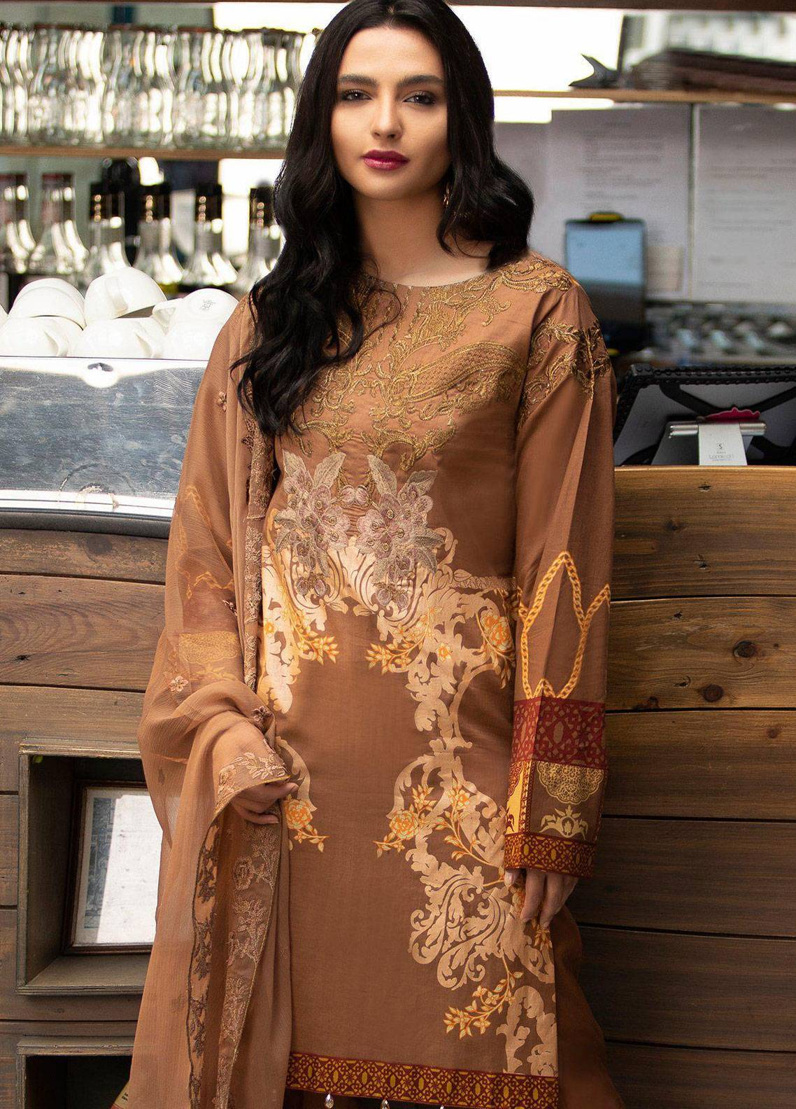 677c470342 Salitex Embroidered Lawn Unstitched 3 Piece Suit STS19L 259B - Spring / Summer  Collection