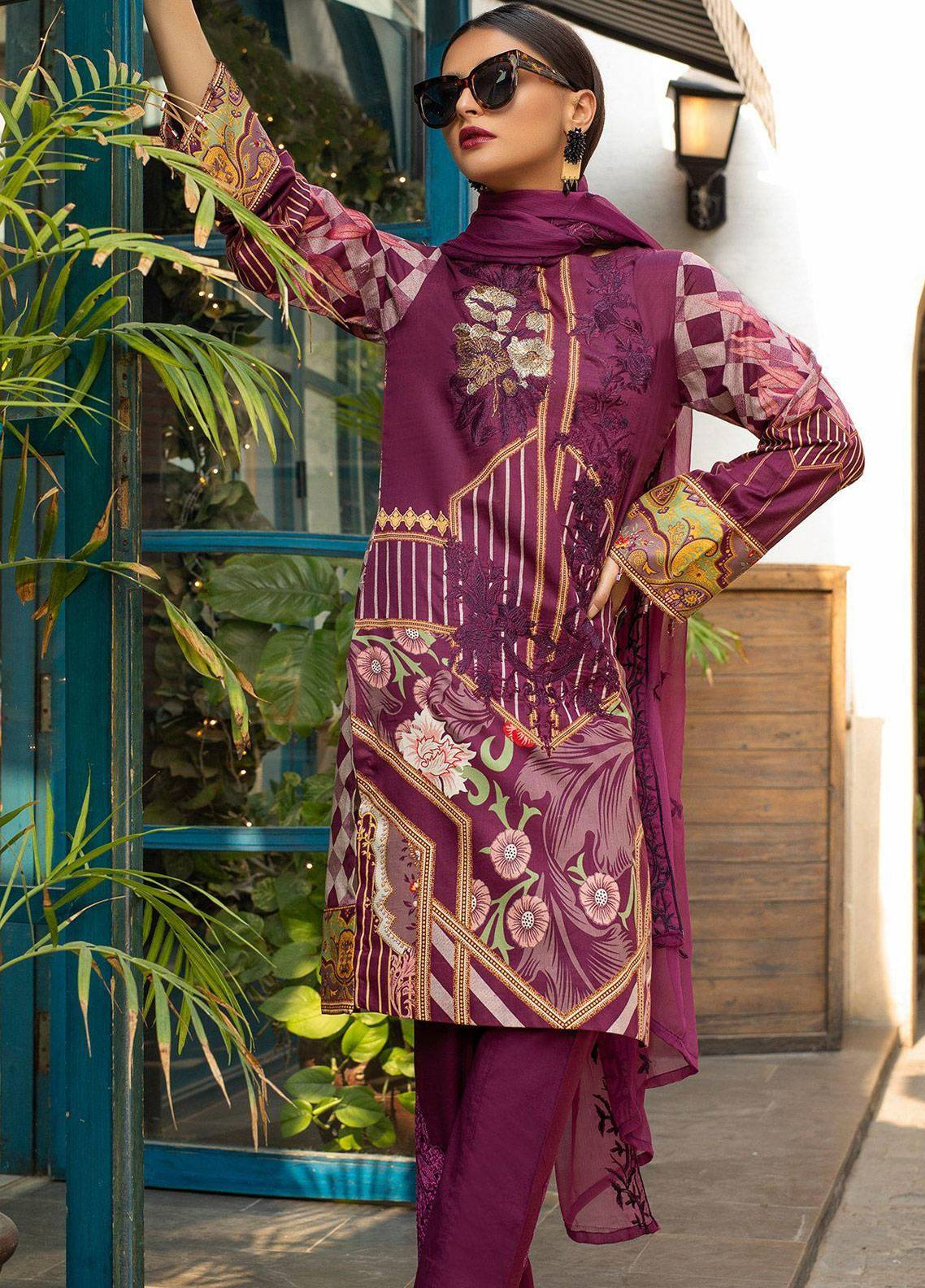 Salitex Embroidered Lawn Unstitched 3 Piece Suit STS19L 261B - Spring / Summer Collection