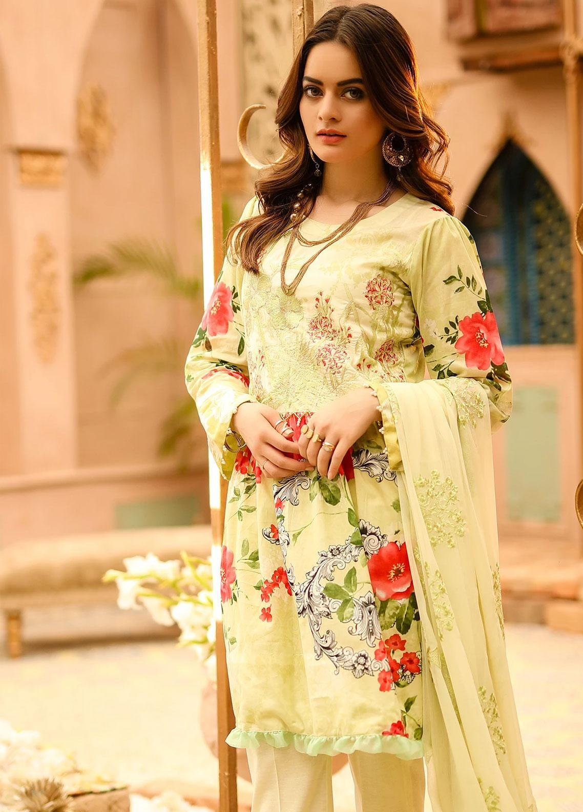 Salitex Embroidered Lawn Unstitched 3 Piece Suit ST19SF 291A - Festive Collection