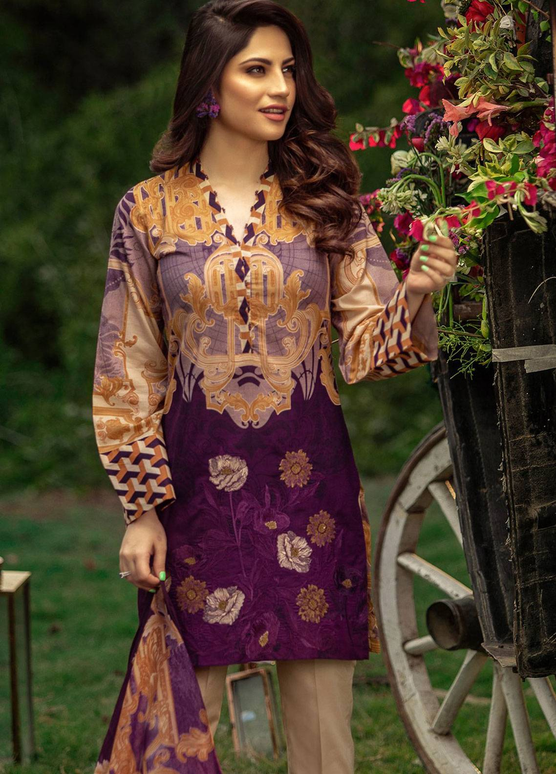7d44c32f17 Salitex Embroidered Lawn Unstitched 3 Piece Suit ST19L 261A - Spring / Summer  Collection