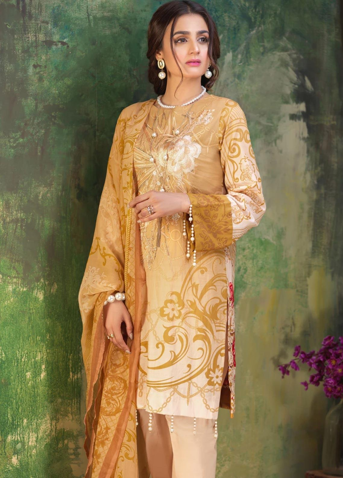 Salitex Embroidered Lawn Unstitched 3 Piece Suit ST19ZL 315B - Summer Collection
