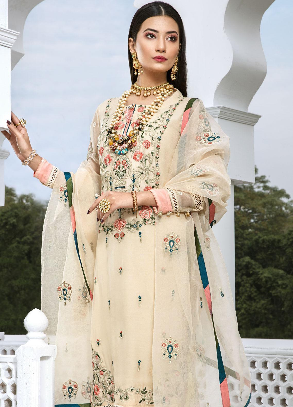 Aadaab by Sana Sheraz Embroidered Chiffon Unstitched 3 Piece Suit SS20F-2 - Festive Collection