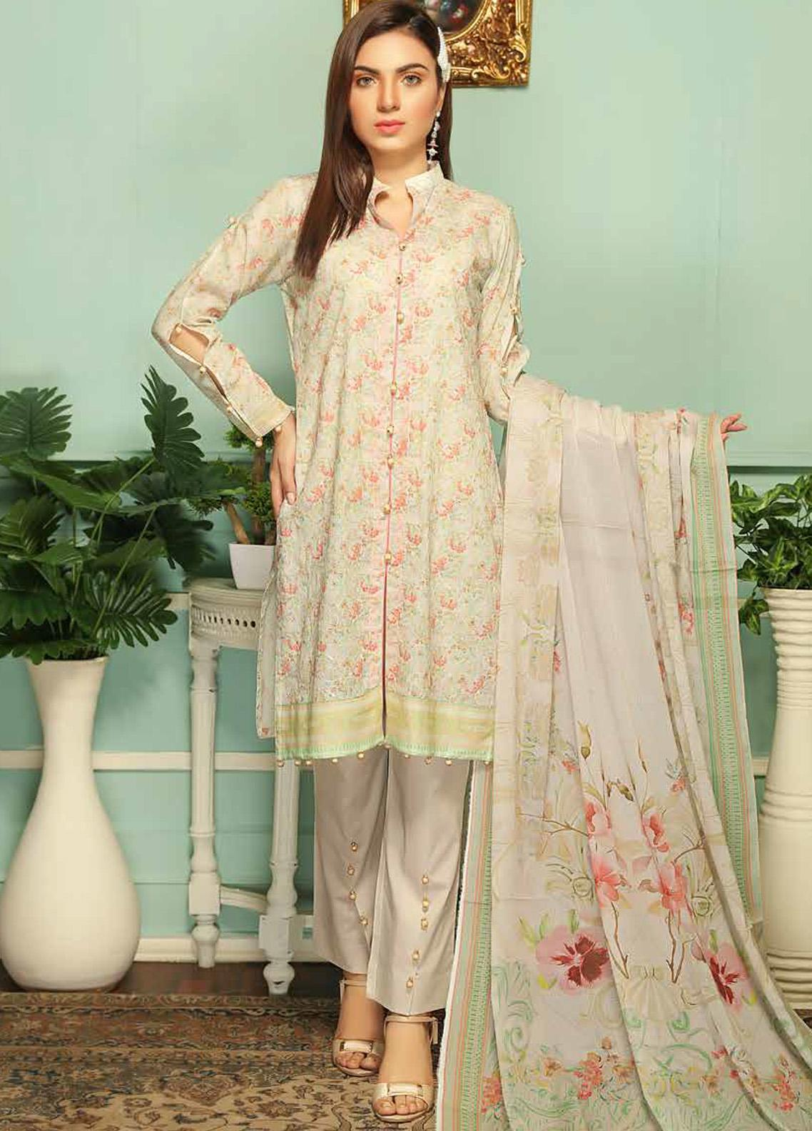 Sanam Saeed by Puri Fabrics Embroidered Lawn Unstitched 3 Piece Suit PF20MC 4 - Summer Collection