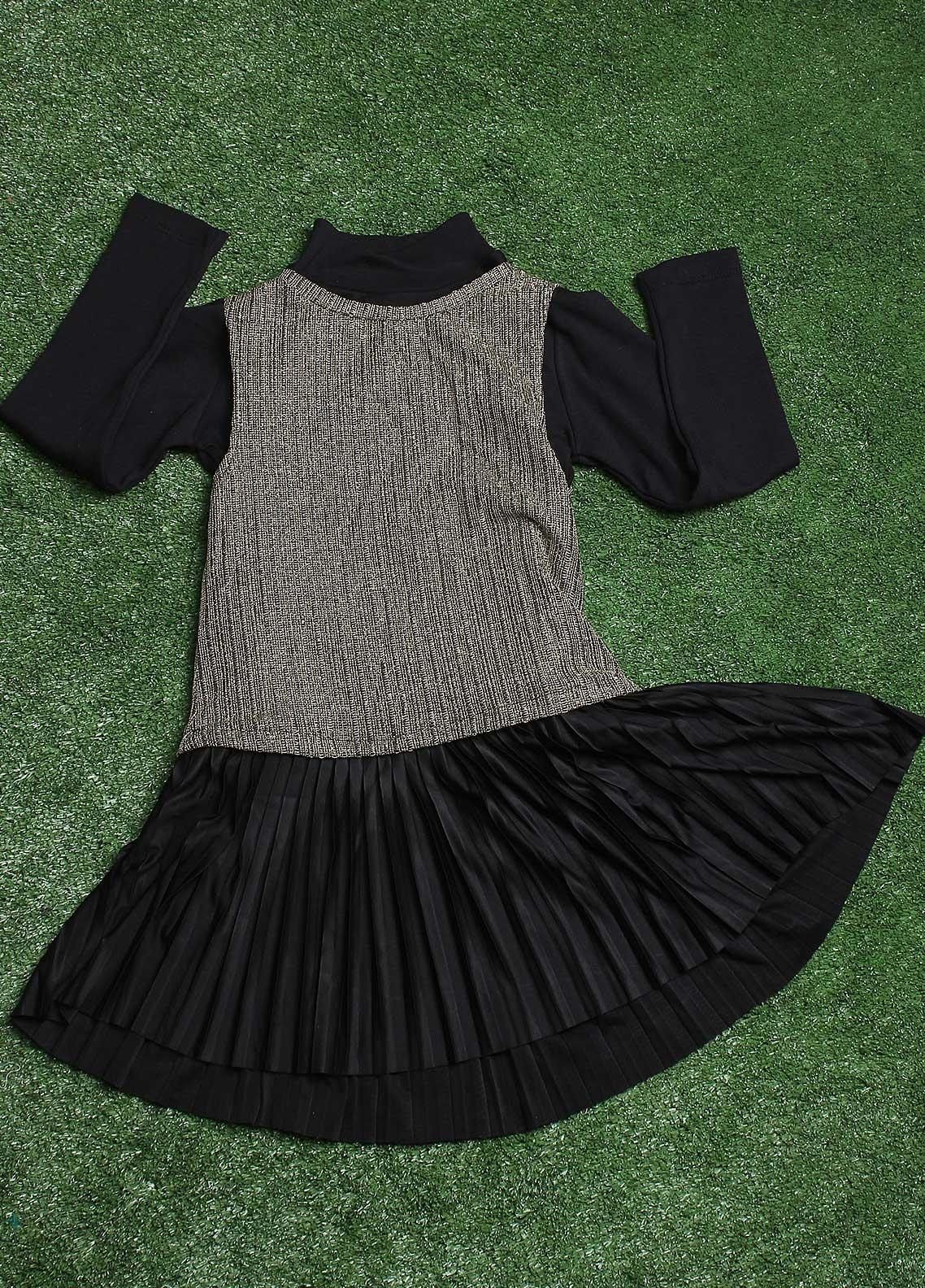 Sanaulla Exclusive Range  Fancy Tops for Girls -  3245 Black