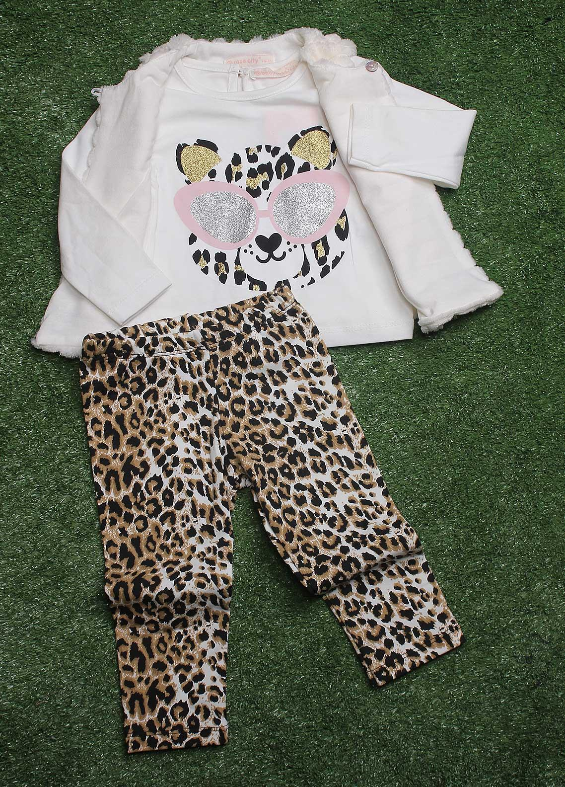 Sanaulla Exclusive Range Fancy 3 Piece Suit for Girls - 7514 White