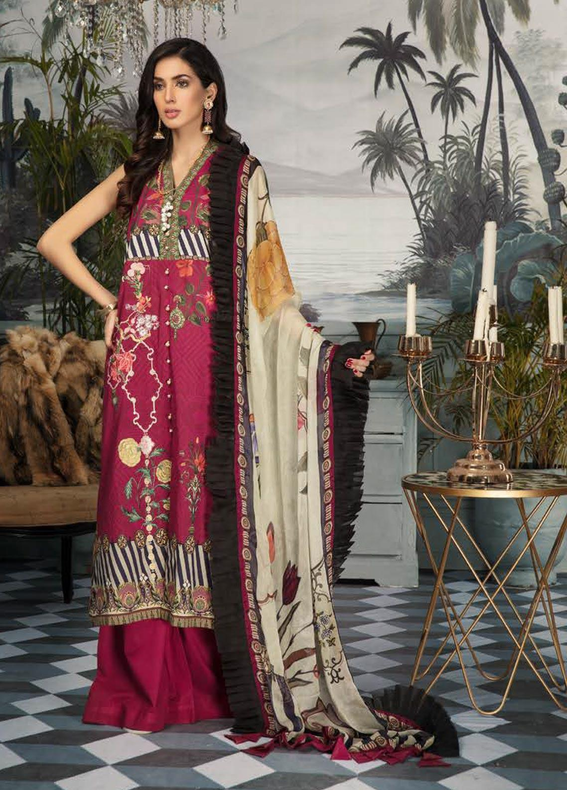 Sanoor by Noor Fatima Embroidered Lawn Unstitched 3 Piece Suit SNO19E 139 - Festive Collection