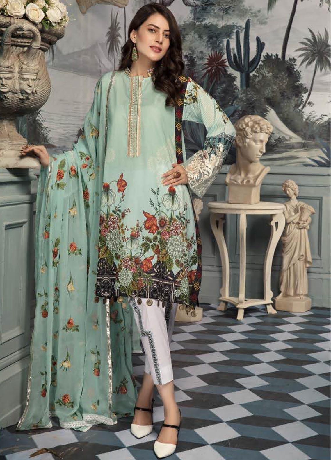 Sanoor by Noor Fatima Embroidered Lawn Unstitched 3 Piece Suit SNO19E 140 - Festive Collection