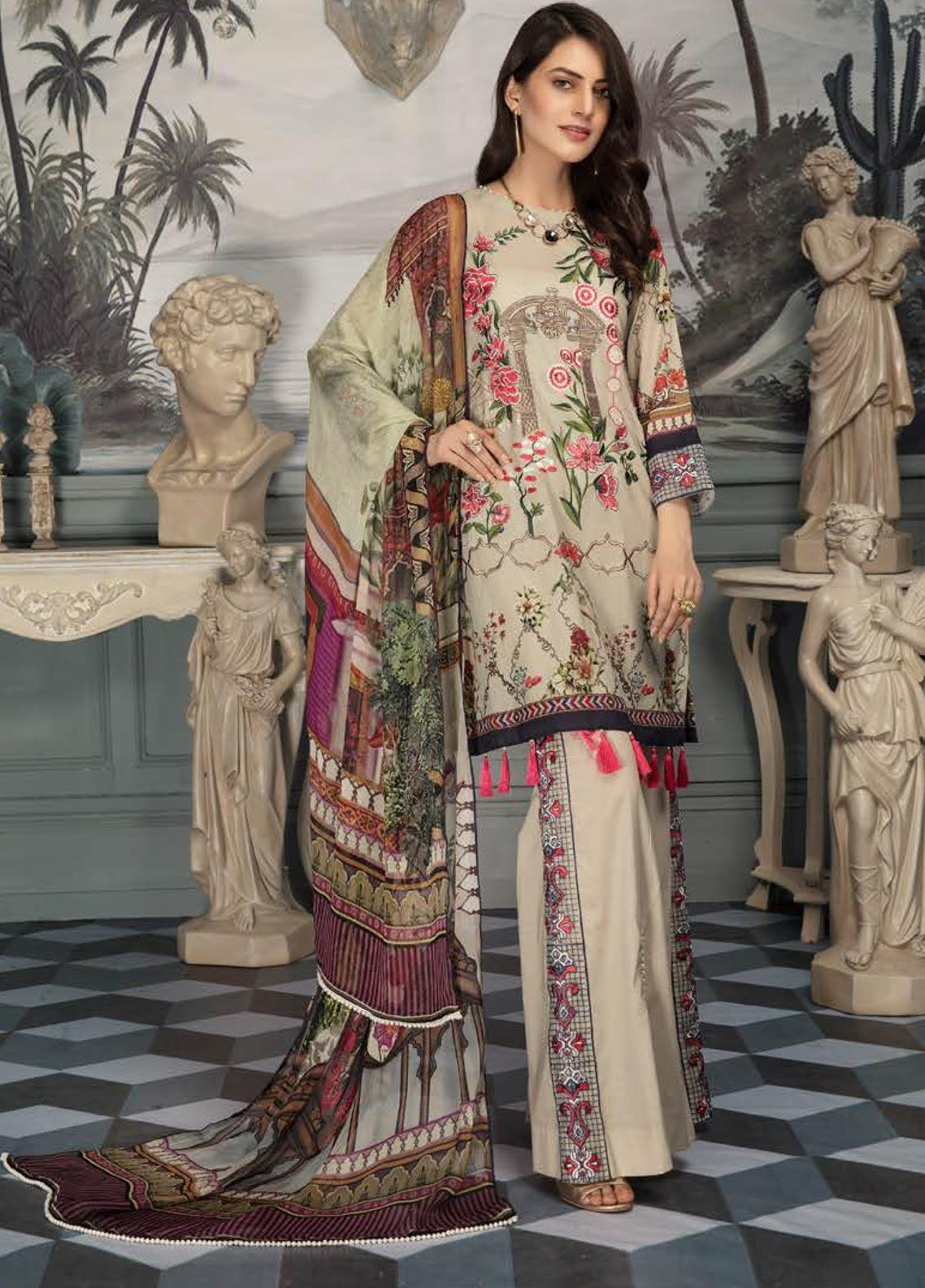 Sanoor by Noor Fatima Embroidered Lawn Unstitched 3 Piece Suit SNO19E 141 - Festive Collection