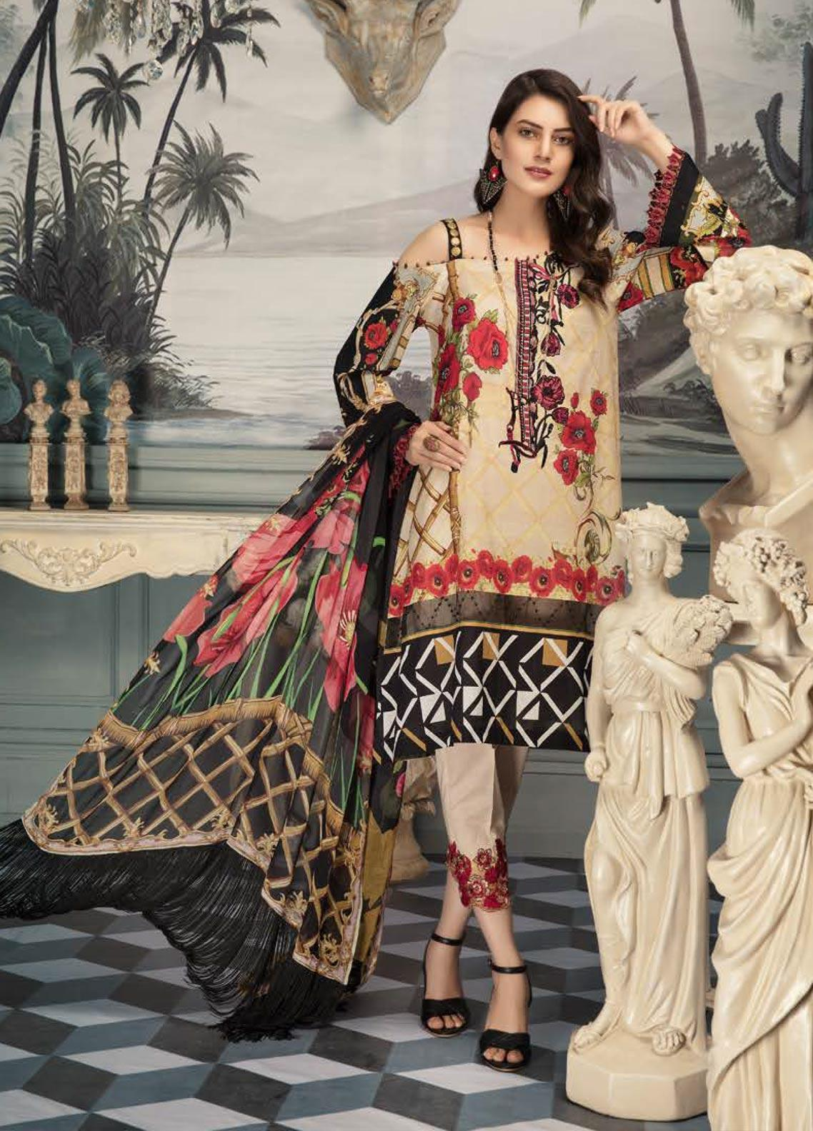 Sanoor by Noor Fatima Embroidered Lawn Unstitched 3 Piece Suit SNO19E 144 - Festive Collection