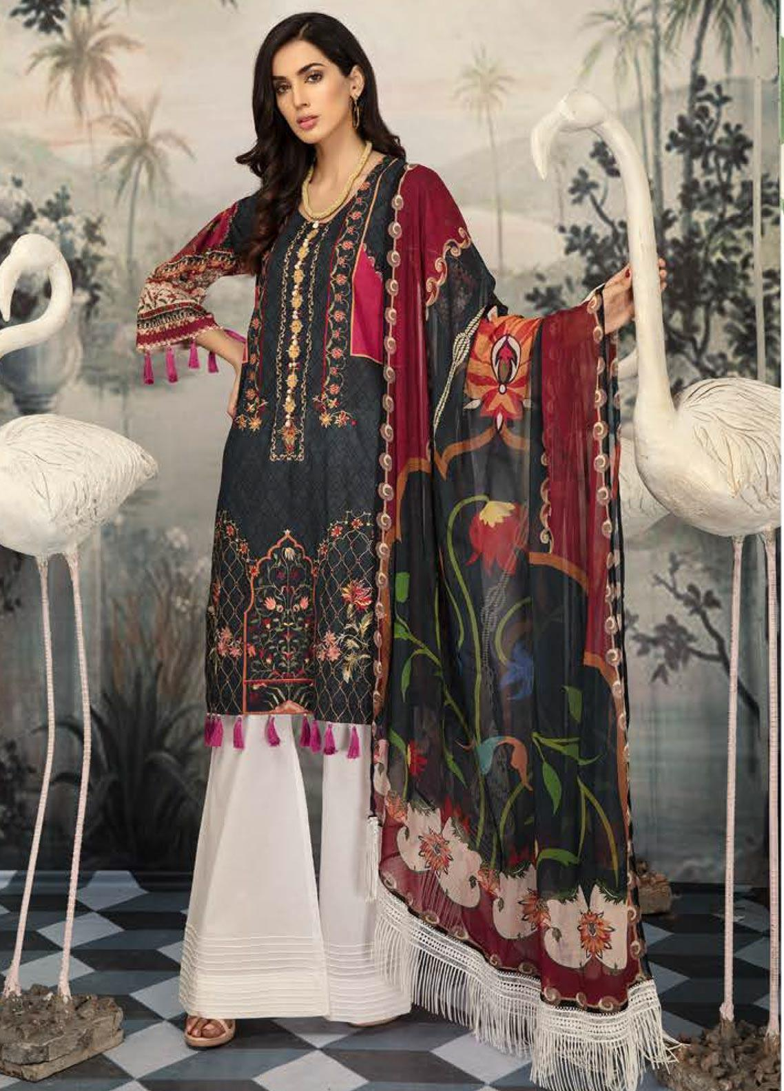 Sanoor by Noor Fatima Embroidered Lawn Unstitched 3 Piece Suit SNO19E 145 - Festive Collection