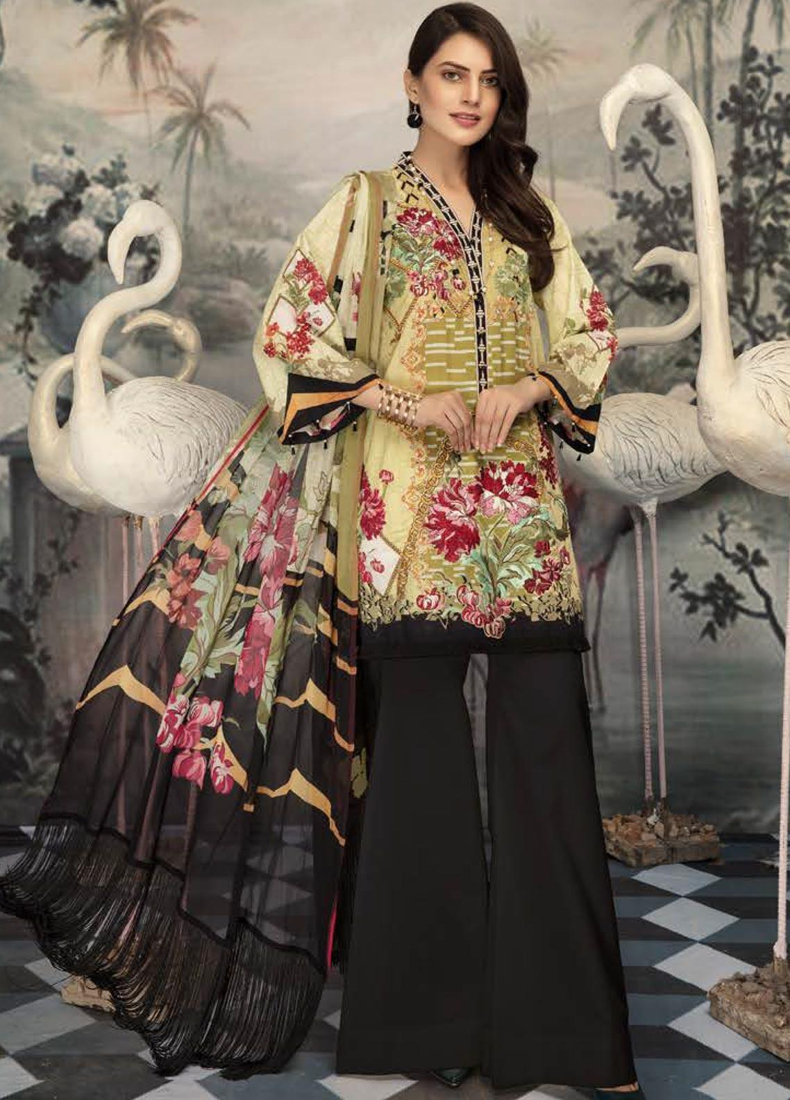 Sanoor by Noor Fatima Embroidered Lawn Unstitched 3 Piece Suit SNO19E 146 - Festive Collection