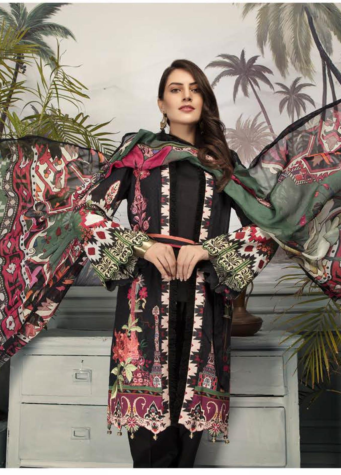 Sanoor by Noor Fatima Embroidered Lawn Unstitched 3 Piece Suit SNO19E 147 - Festive Collection