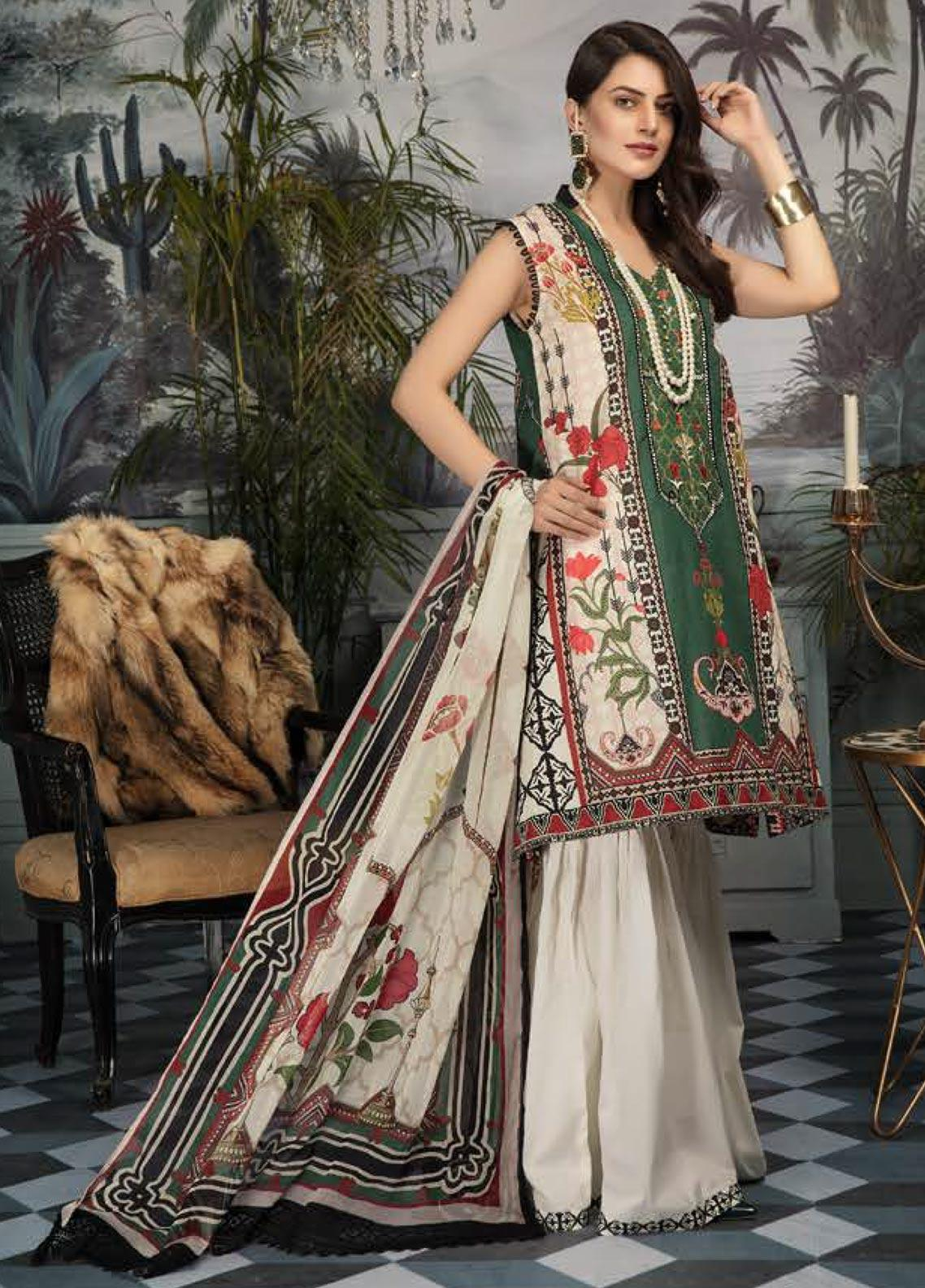 Sanoor by Noor Fatima Embroidered Lawn Unstitched 3 Piece Suit SNO19E 148 - Festive Collection