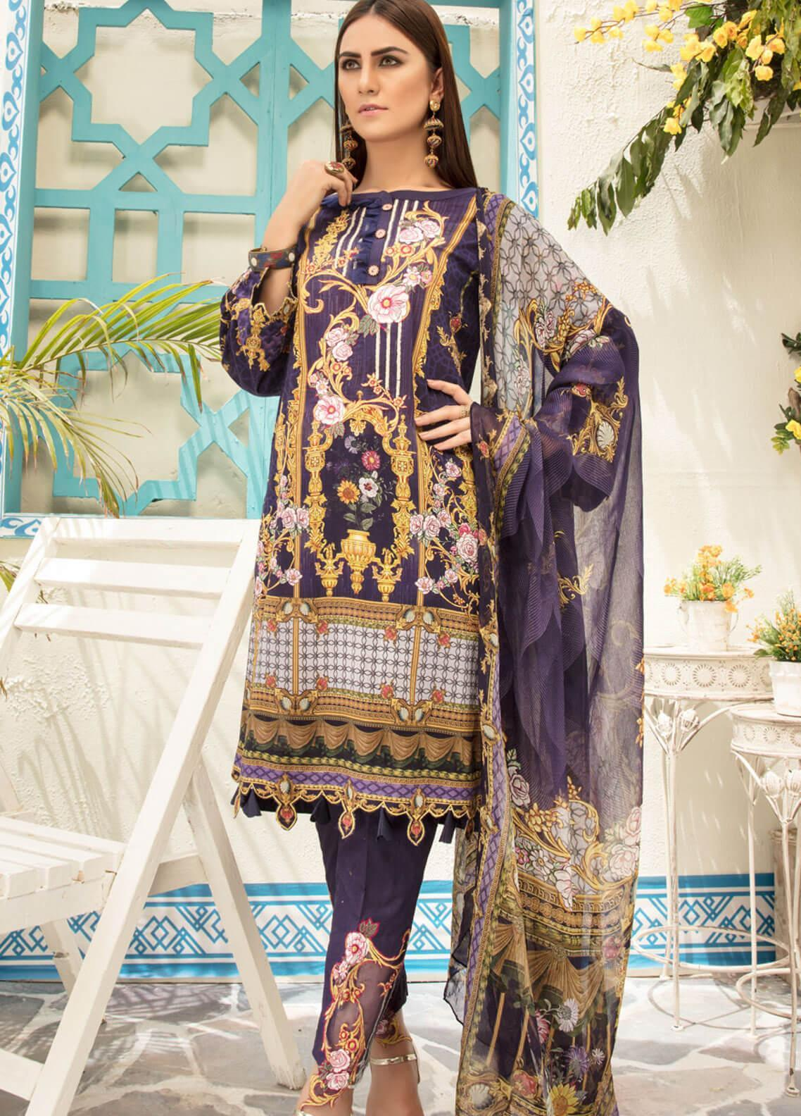 Sanoor by Noor Fatima Embroidered Lawn Unstitched 3 Piece Suit SNO19F 134 - Festive Collection
