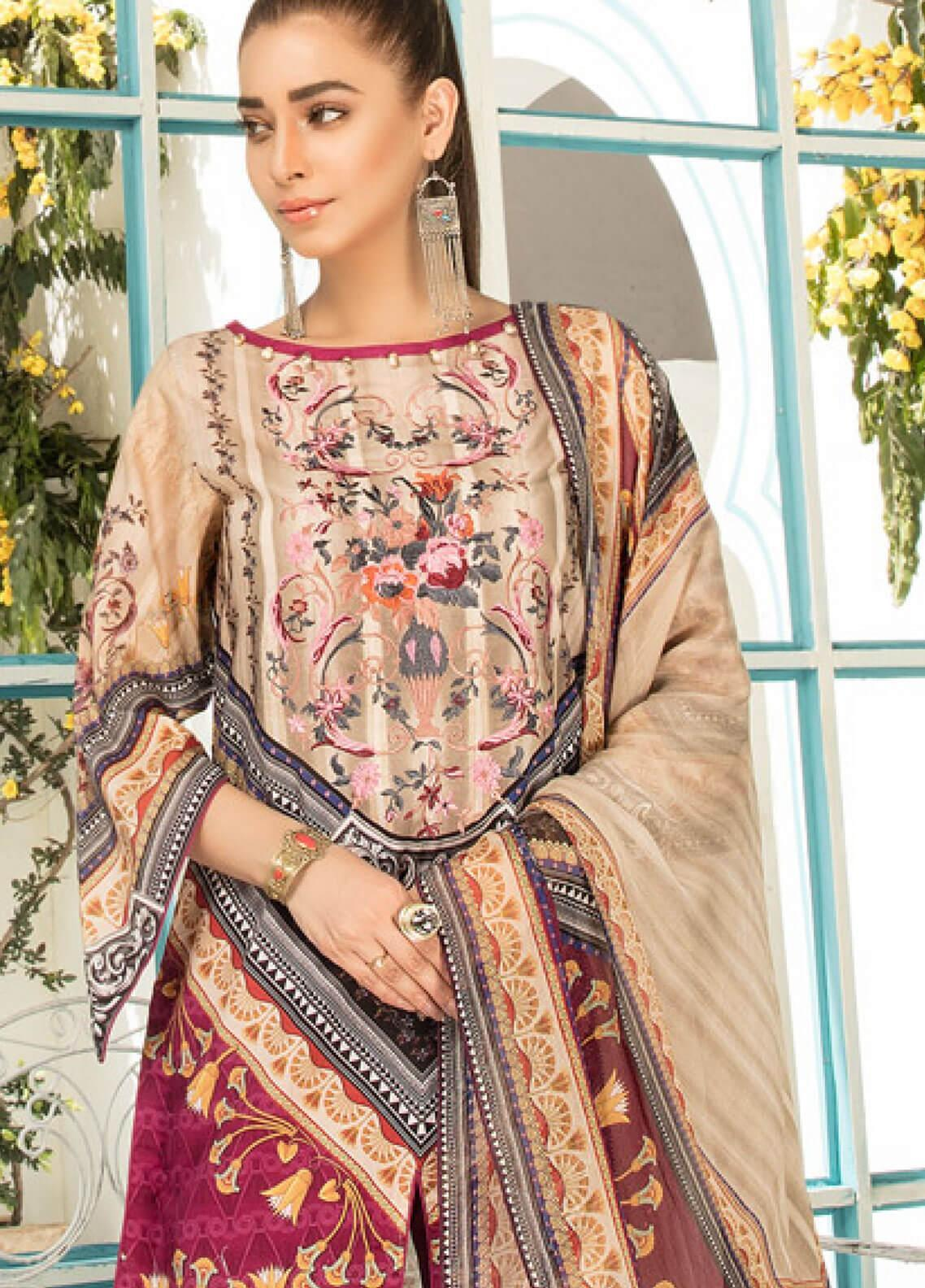 f02490ee57 Sanoor by Noor Fatima Embroidered Lawn Unstitched 3 Piece Suit SNO19F 136 - Festive  Collection