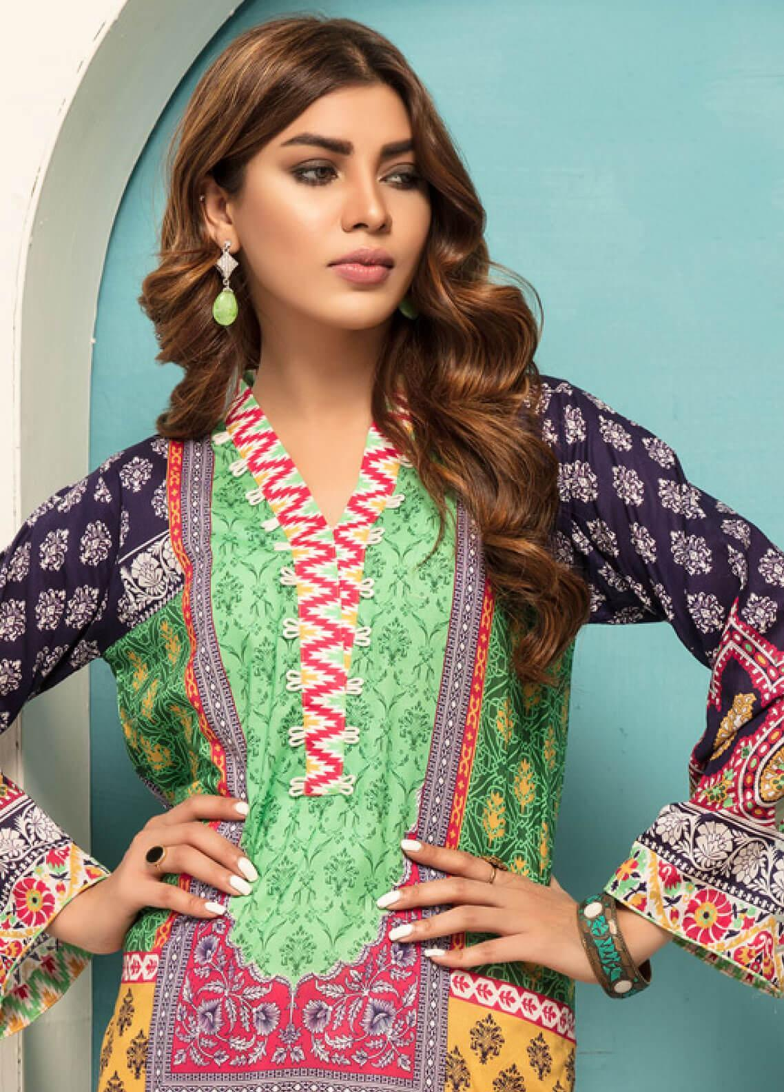 Sanoor by Noor Fatima Printed Lawn Unstitched Kurties SNO19F 867 - Festive Collection