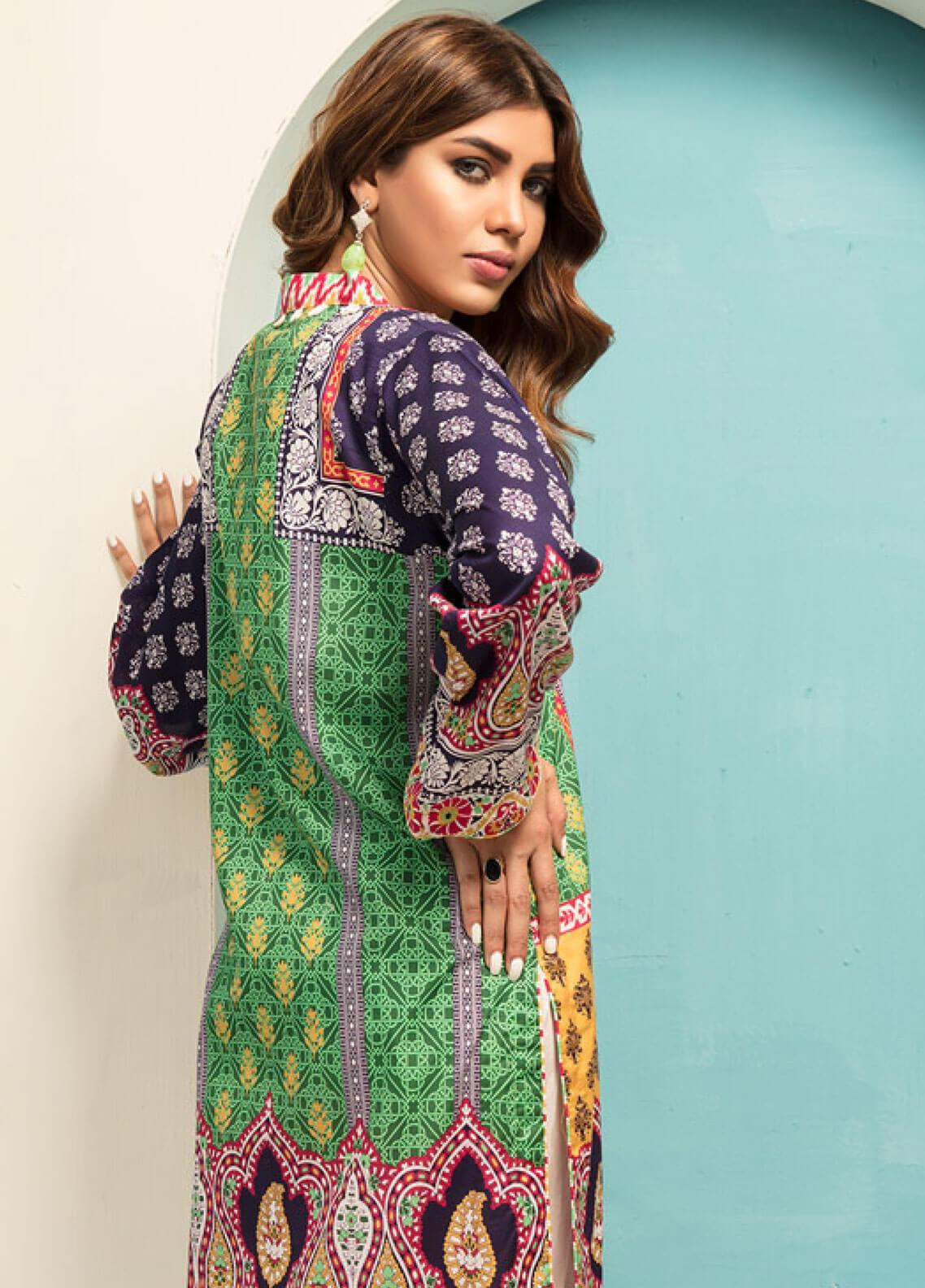 03856a7a6a Sanoor by Noor Fatima Printed Lawn Unstitched Kurties SNO19F 867 - Festive  Collection. Online only