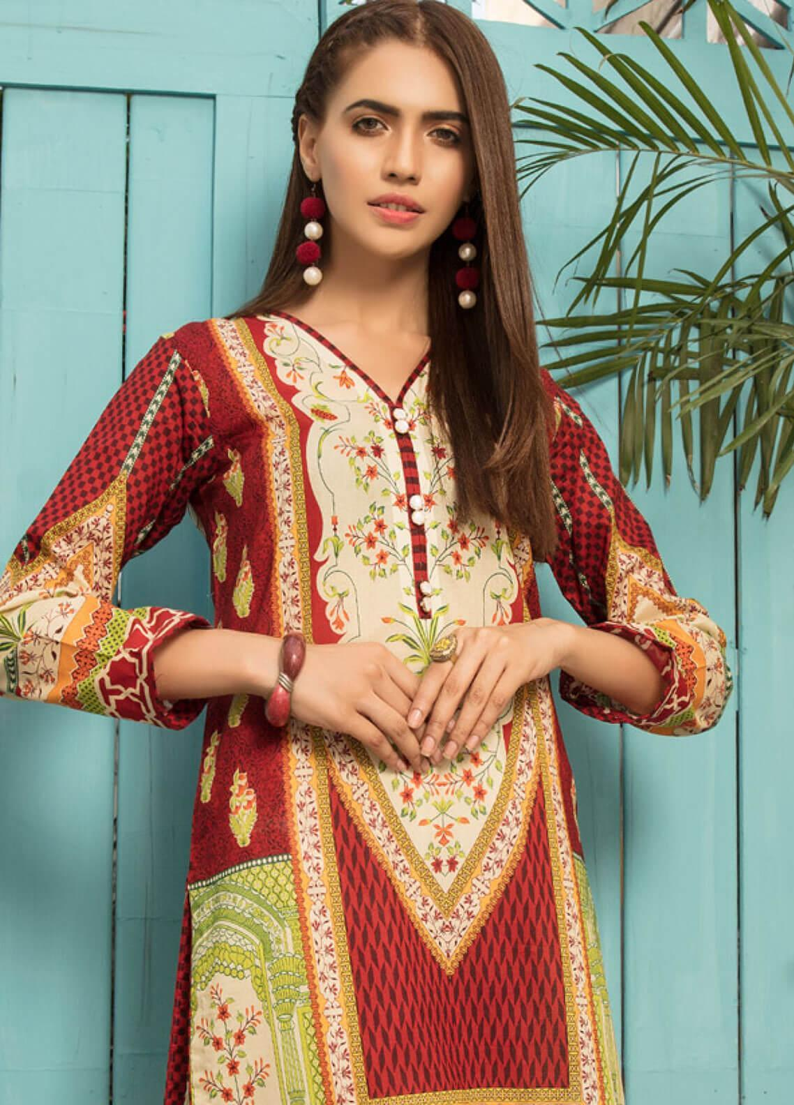 Sanoor by Noor Fatima Printed Lawn Unstitched Kurties SNO19F 868 - Festive Collection