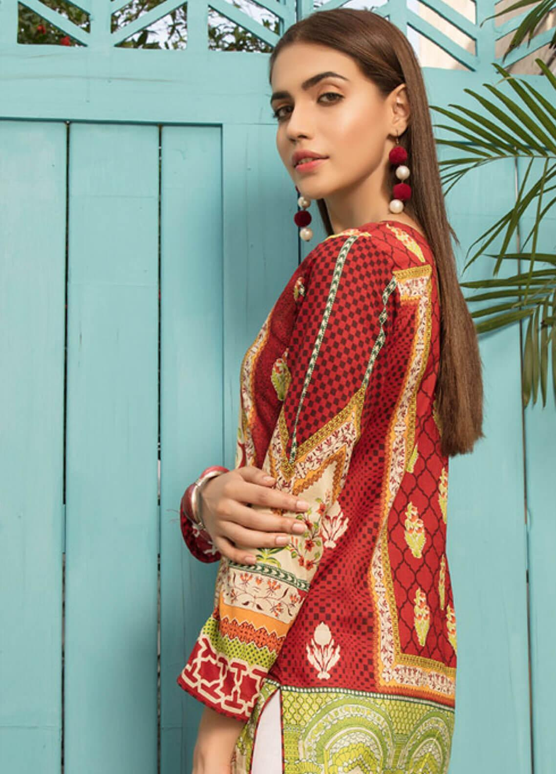 fc346265c8 Sanoor by Noor Fatima Printed Lawn Unstitched Kurties SNO19F 868 - Festive  Collection. Online only
