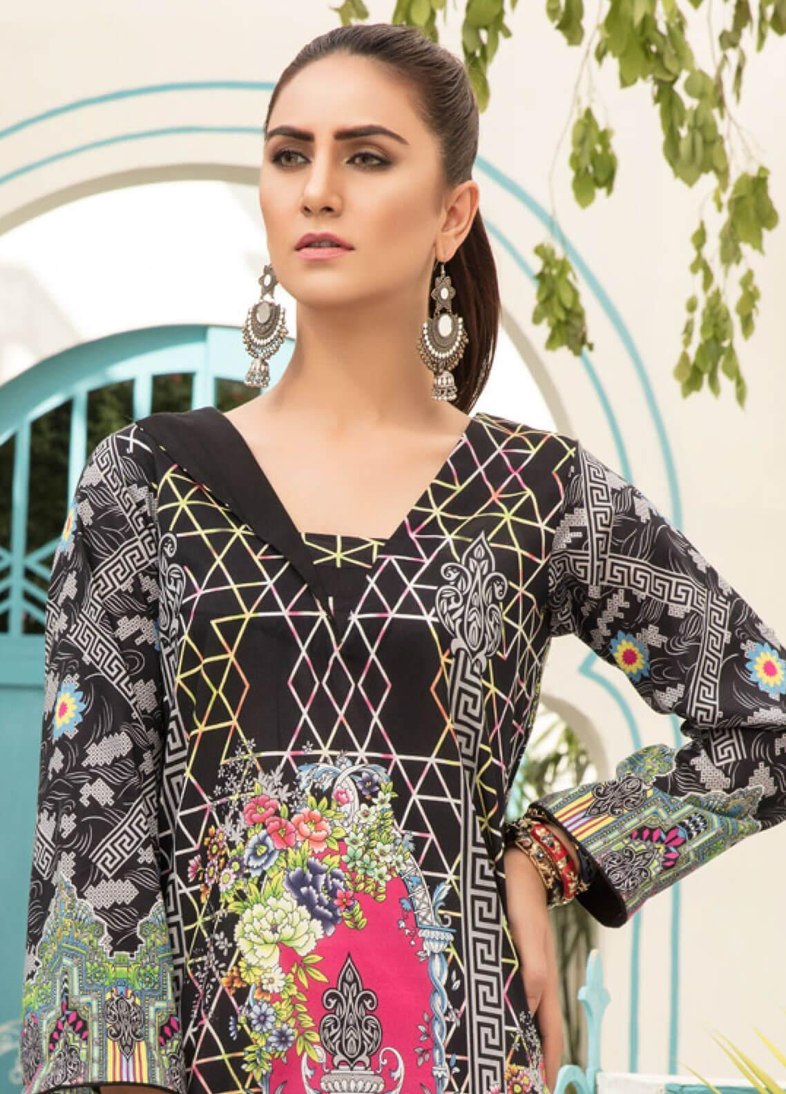0b618d9381 Sanoor by Noor Fatima Printed Lawn Unstitched Kurties SNO19F 869 - Festive  Collection. Online only