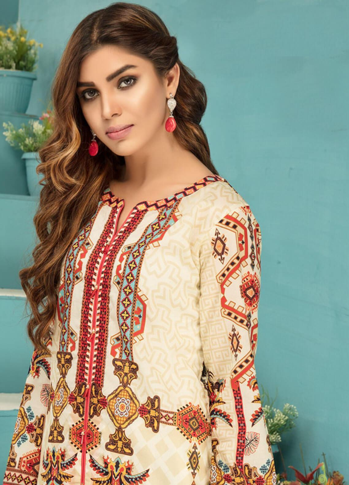 Sanoor by Noor Fatima Printed Lawn Unstitched Kurties SNO19F 870 - Festive Collection