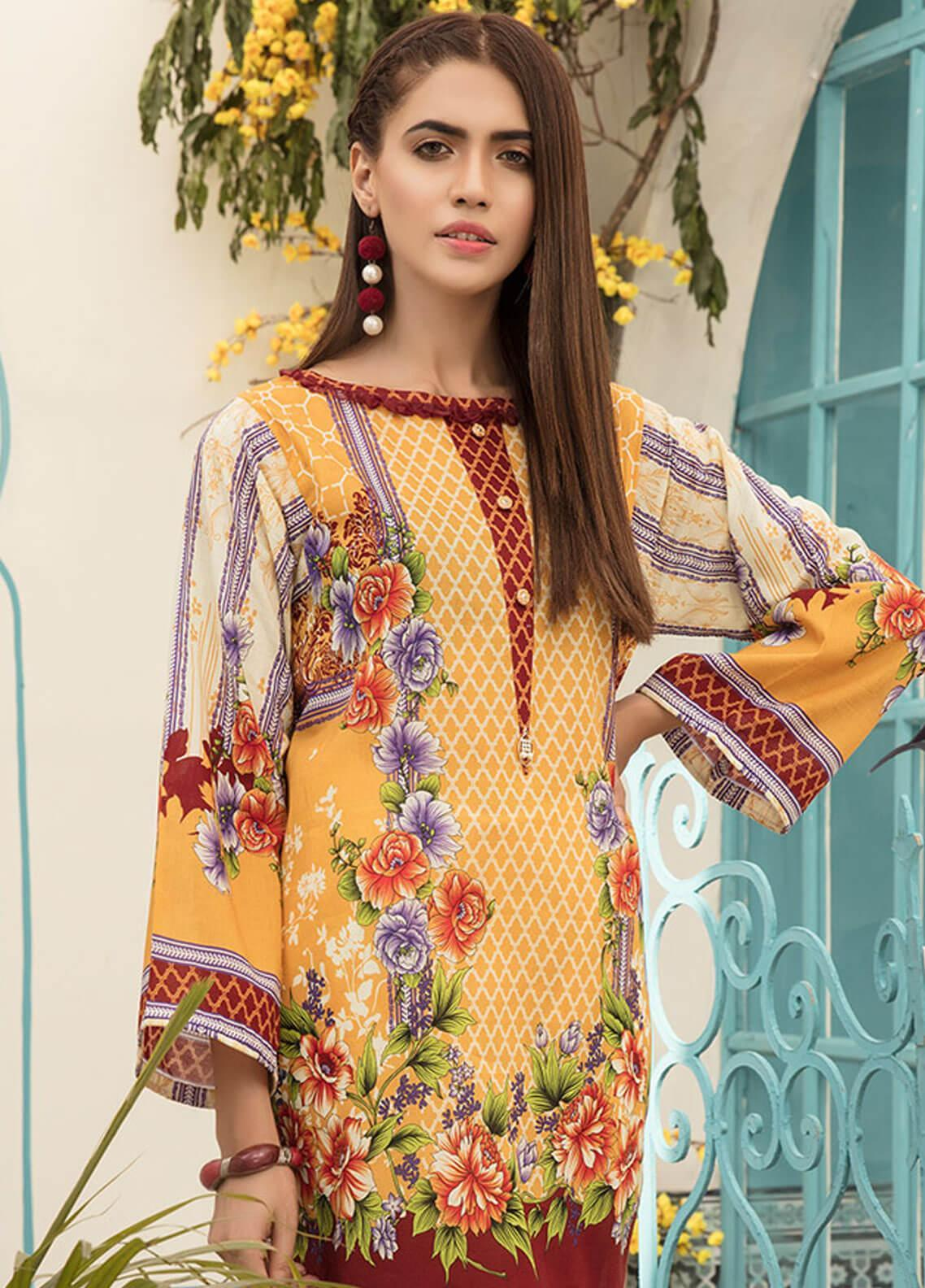ef068b098f Sanoor by Noor Fatima Printed Lawn Unstitched Kurties SNO19F 871 - Festive  Collection. Online only