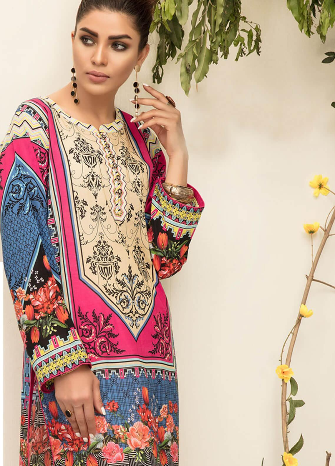 8d79bb5ed3 Sanoor by Noor Fatima Printed Lawn Unstitched Kurties SNO19F 872 - Festive  Collection. Online only