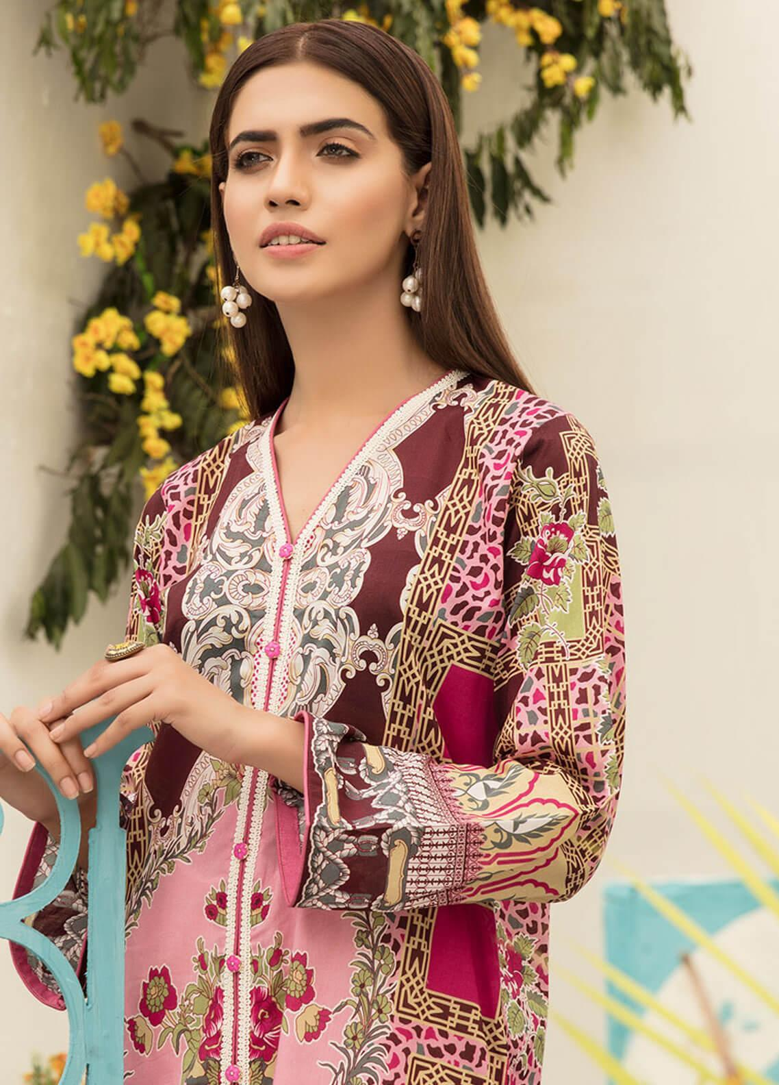 Sanoor by Noor Fatima Printed Lawn Unstitched Kurties SNO19F 873 - Festive Collection