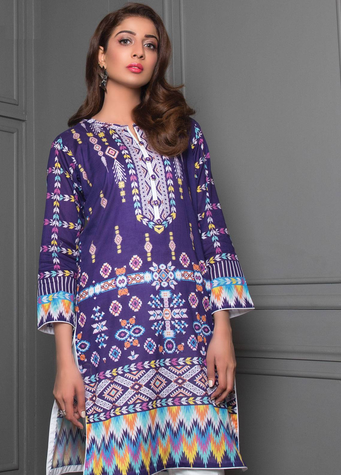baa5834ceb Sanoor by Noor Fatima Printed Lawn Unstitched Kurties SNO19K 852 - Spring /  Summer Collection. Online only