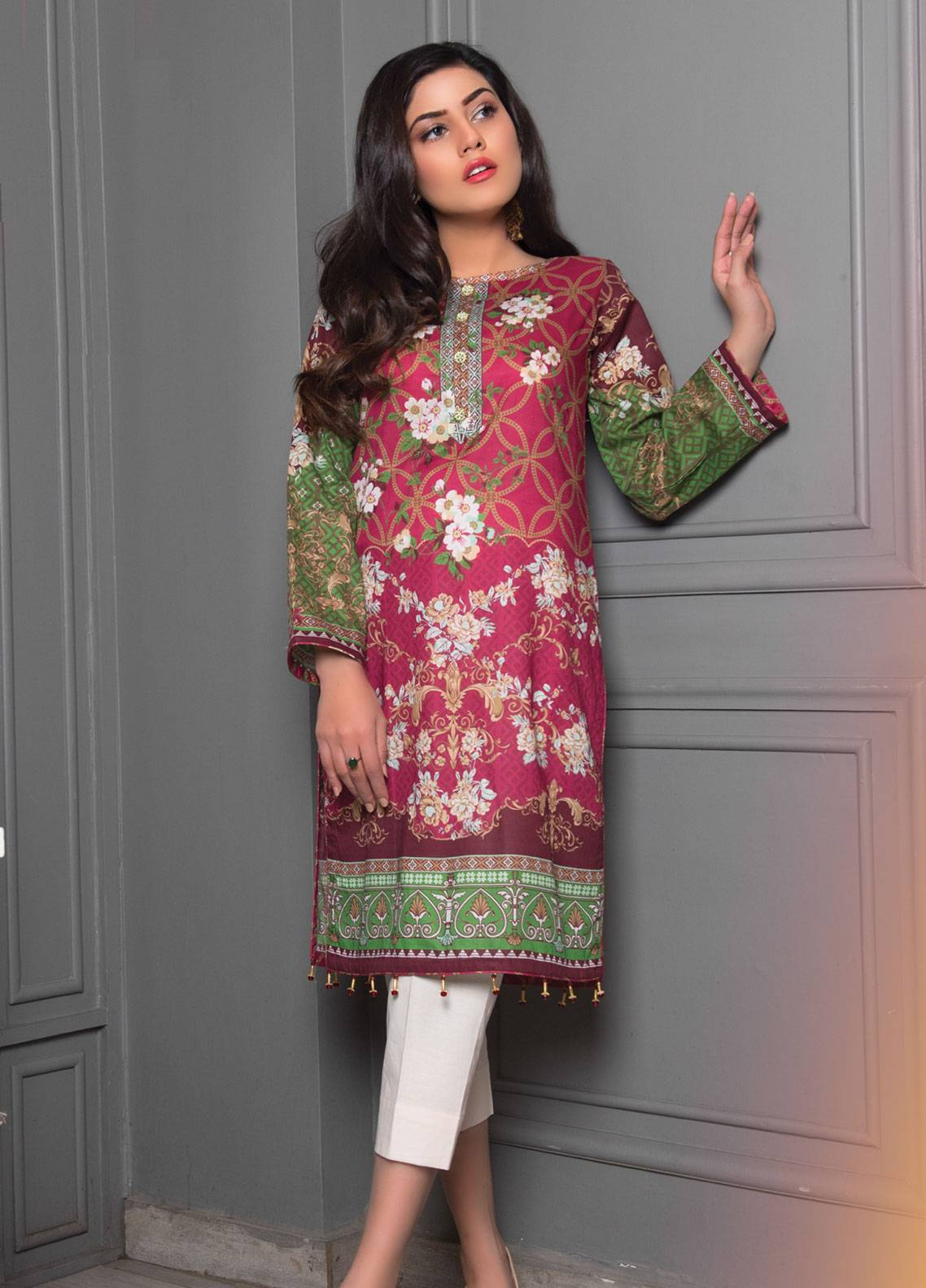 59f4f0d55c Sanoor by Noor Fatima Printed Lawn Unstitched Kurties SNO19K 853 - Spring /  Summer Collection. Online only