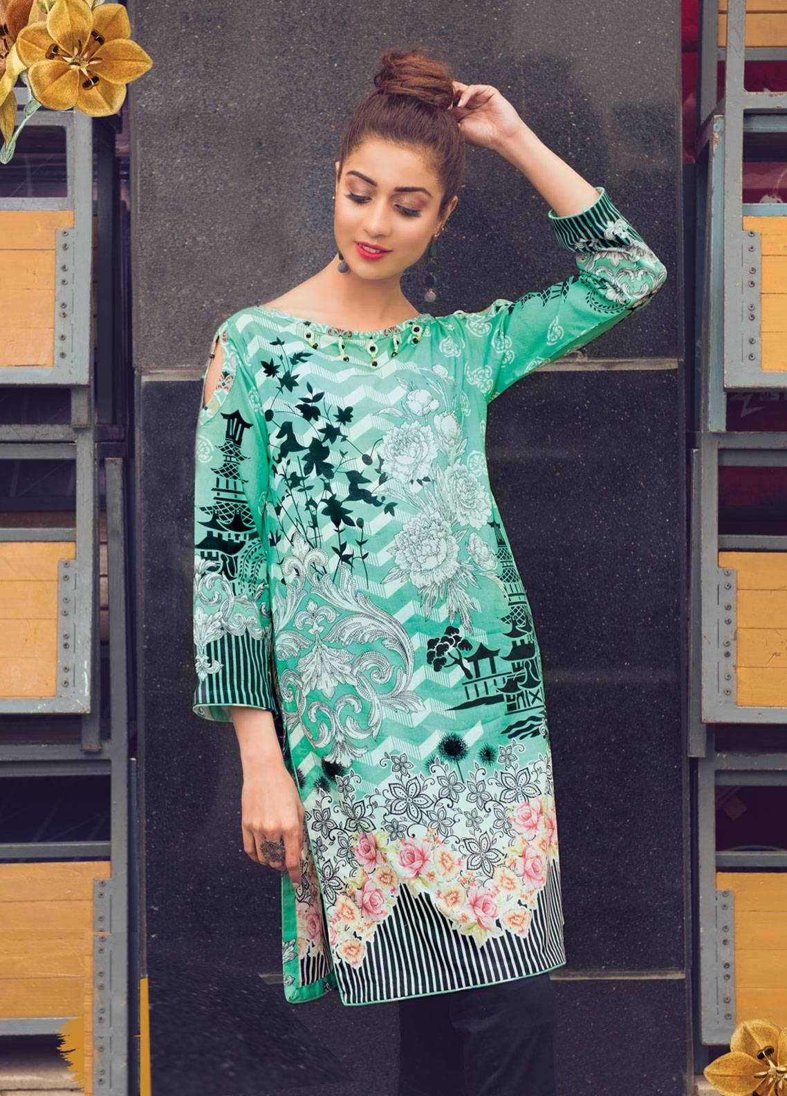 2e6859275f Sanoor by Noor Fatima Printed Lawn Unstitched Kurties SNO19K 855 - Spring /  Summer Collection. Online only