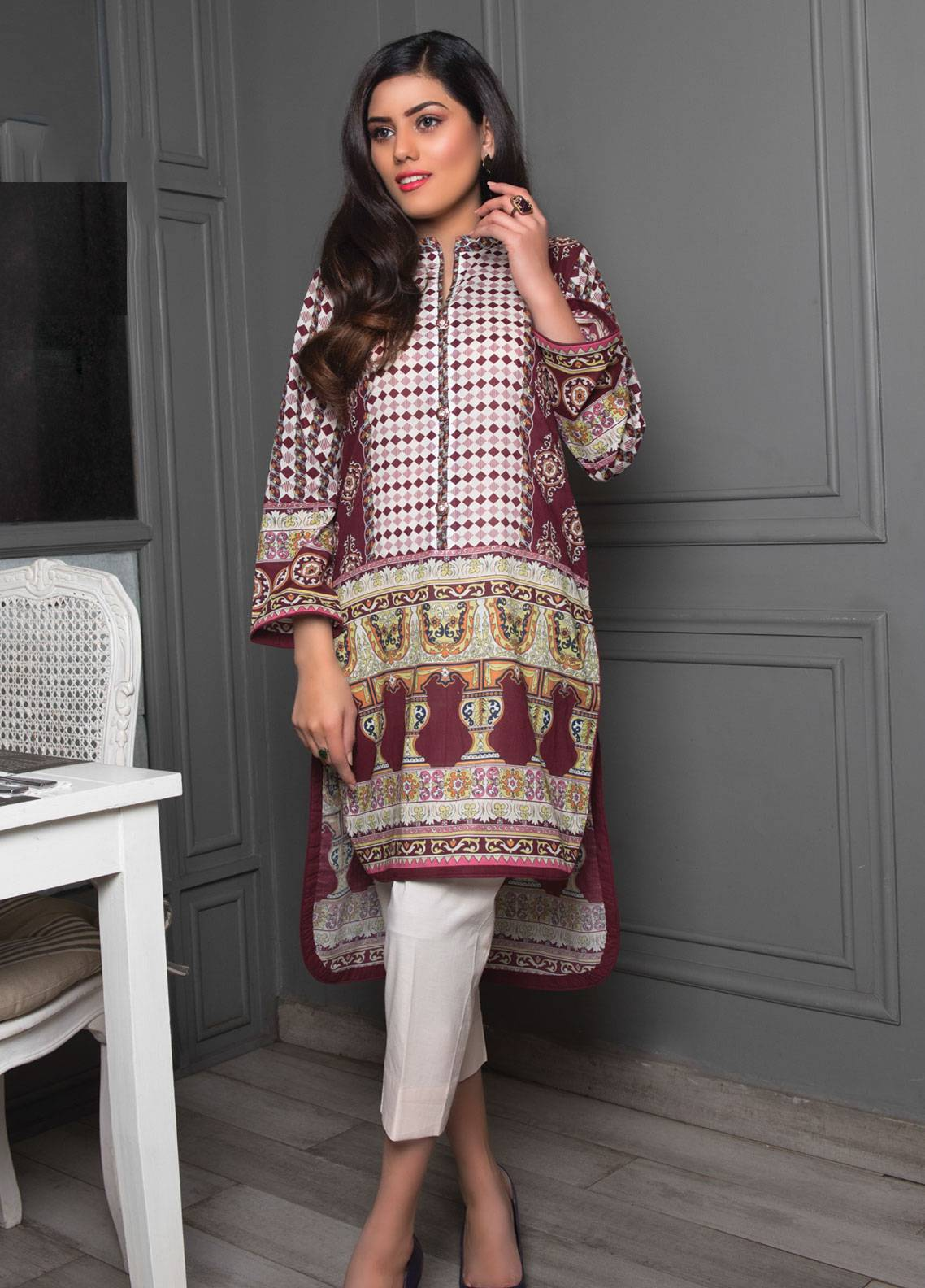 5f72dbaeab Sanoor by Noor Fatima Printed Lawn Unstitched Kurties SNO19K 856 - Spring /  Summer Collection. Online only