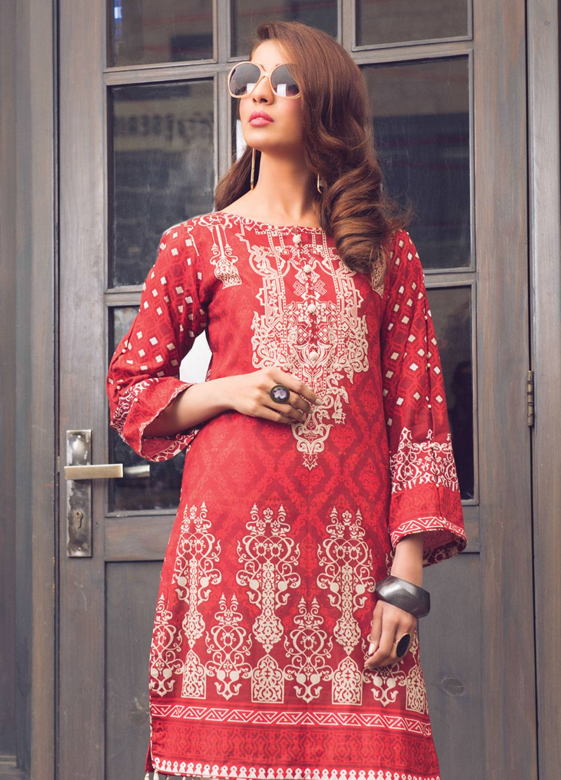 64ea2ae9b4 Sanoor by Noor Fatima Printed Lawn Unstitched Kurties SNO19K 858 - Spring /  Summer Collection. Online only