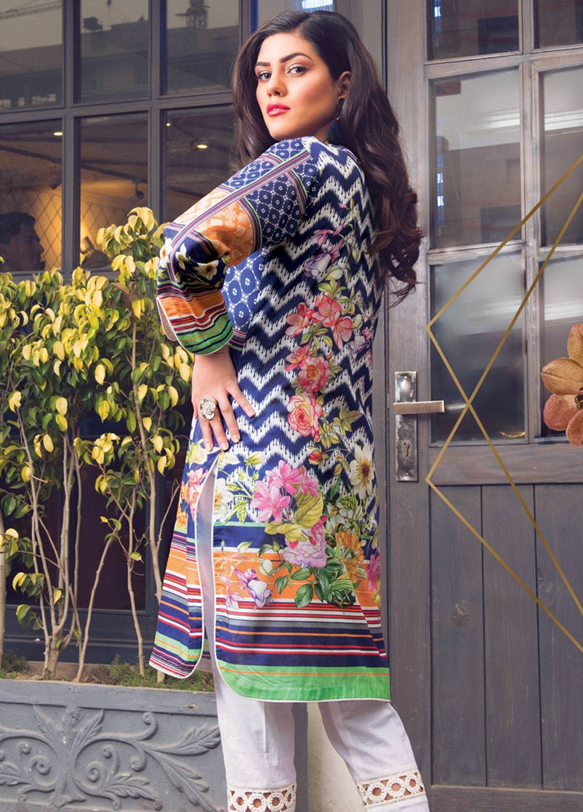 4b1d017712 Sanoor by Noor Fatima Printed Lawn Unstitched Kurties SNO19K 860 - Spring /  Summer Collection. Online only