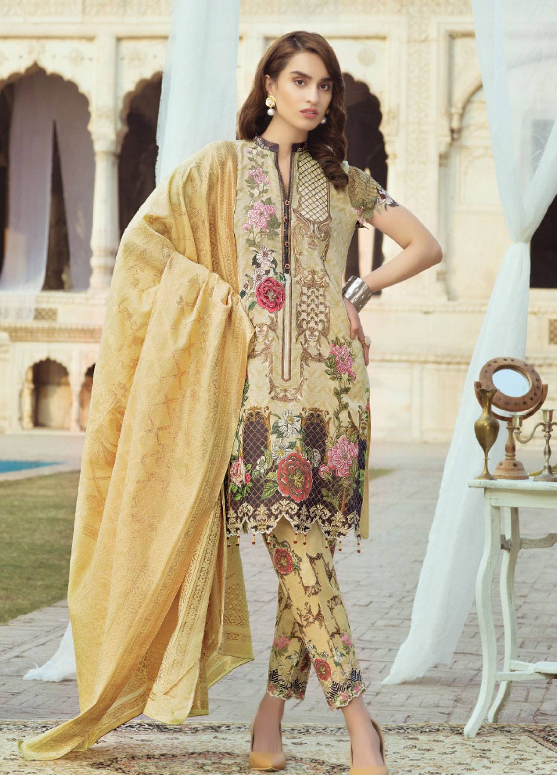 1a9143c511 Sanoor by Noor Fatima Embroidered Swiss Voile Unstitched 3 Piece Suit  SNF19SC 105 - Summer Collection
