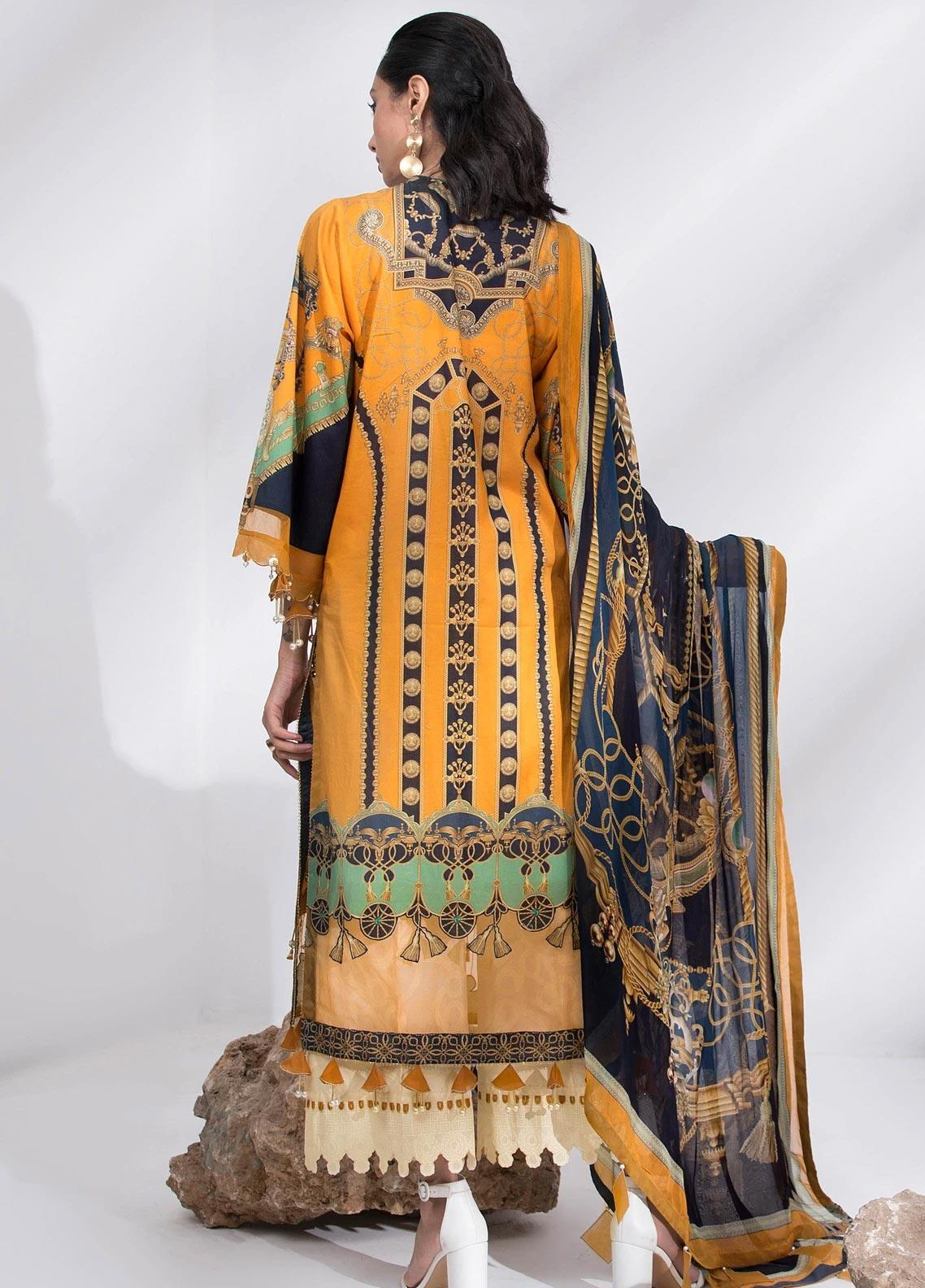Sapphire Embroidered Lawn Unstitched 3 Piece Suit Sp20l Sunny Daze Spring Summer Collection