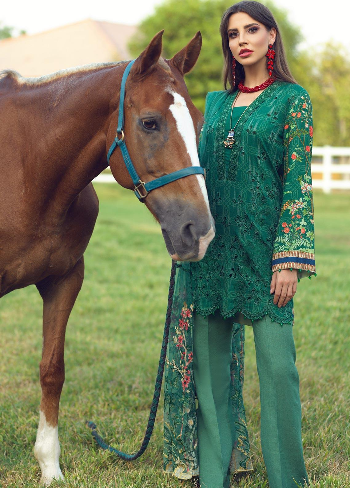 Sarang Embroidered Viscose Unstitched 3 Piece Suit SG19W ARCADIA - Winter Collection