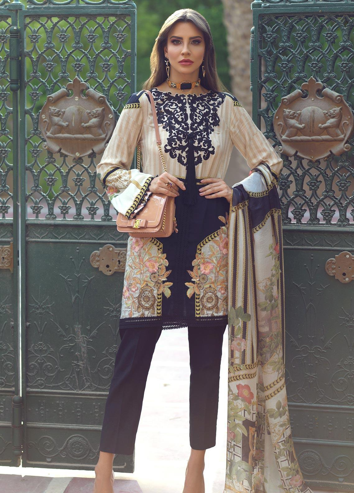 Sarang Embroidered Viscose Unstitched 3 Piece Suit SG19W BELLINI - Winter Collection