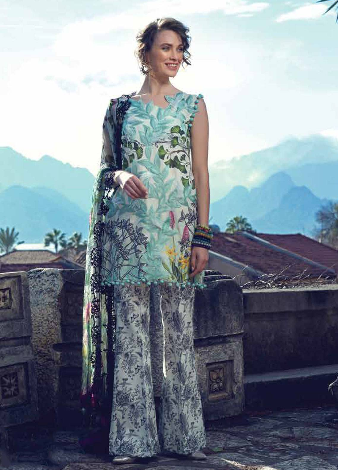 Sarang by Ittehad Textiles Embroidered Lawn Unstitched 3 Piece Suit SIT19LC 11 Hanife - Luxury lawn Collection