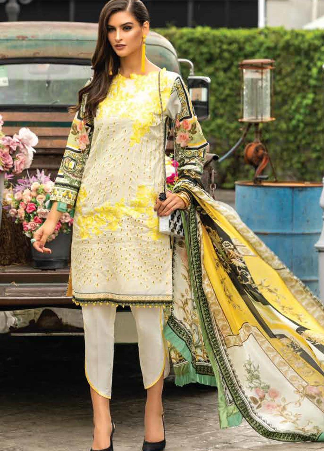 Sarang Embroidered Lawn Unstitched 3 Piece Suit S20LS 02 - Spring / Summer Collection