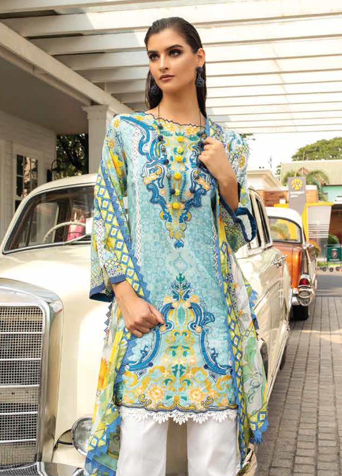 Sarang Embroidered Lawn Unstitched 3 Piece Suit S20LS 04 - Spring / Summer Collection