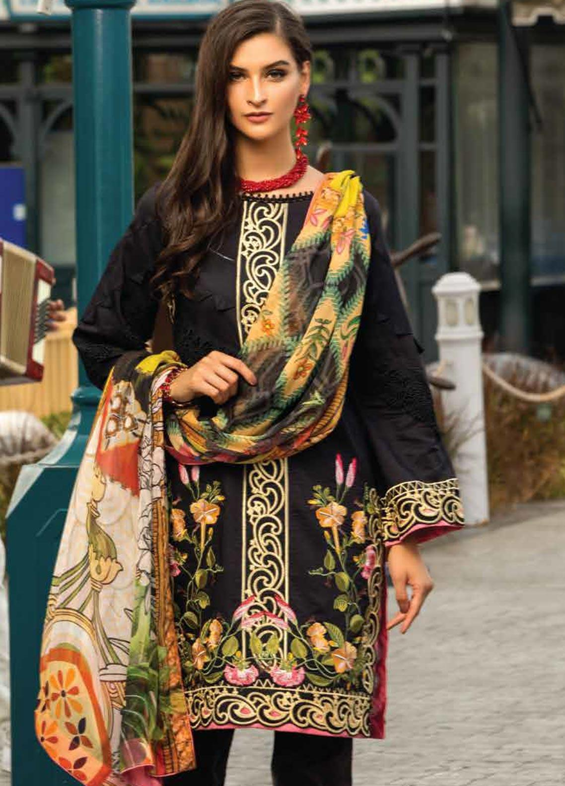 Sarang Embroidered Lawn Unstitched 3 Piece Suit S20LS 08 - Spring / Summer Collection